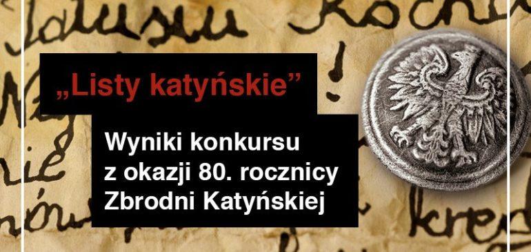 """Julia wyróżniona w  konkursie literackim """"Listy katyńskie"""""""
