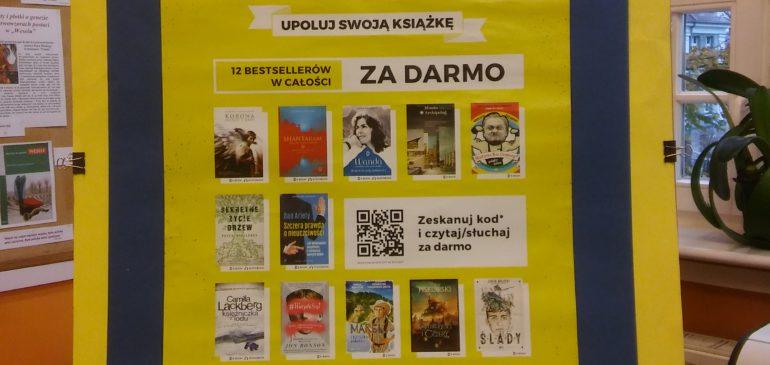 """""""Upoluj swoją książkę"""" w bibliotece i na szkolnym korytarzu …"""